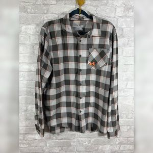 UNDER ARMOR Heat Gear Loose Polyester Plaid Button